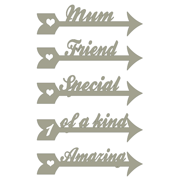 Memory Maze - Arrow Words - Mum, Friend, Special