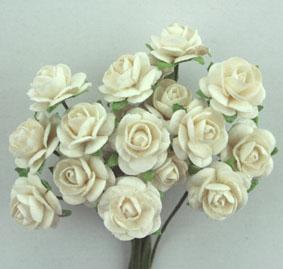 Green Tara 1cm Rose - White