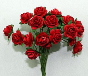 Green Tara 1cm Rose - Red