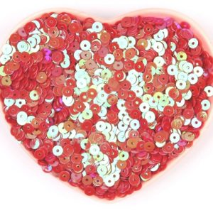 Flat Sequin 6mm - AB Red