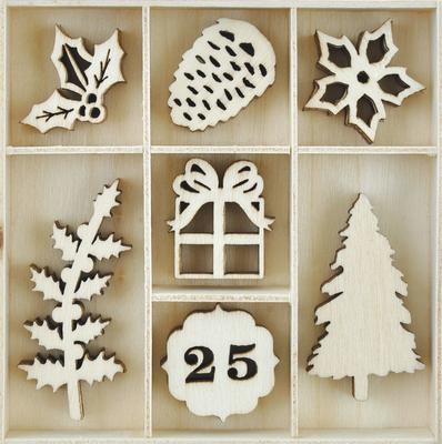 Kaisercraft  Christmas Edition - Wooden Flourish Pack