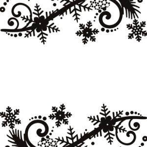 Ultimate Crafts - Embossing Folder - Winter Pine Cone Flourish