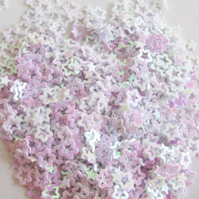 Hollow Star Confetti 3mm - White