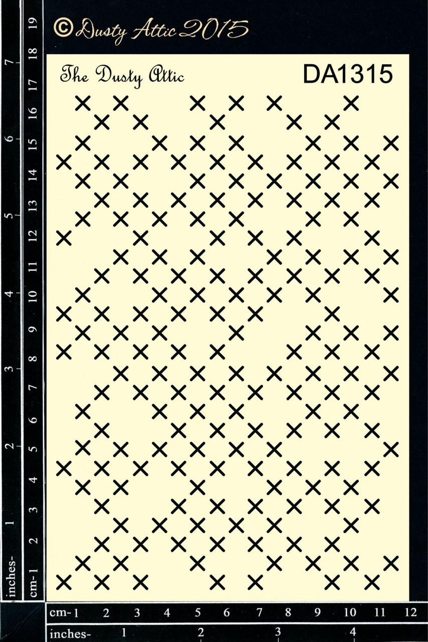 Dusty Attic Stencil - Criss Cross