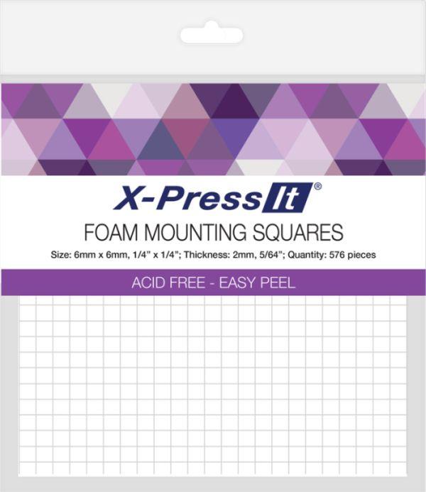 X-press Foam Mounting Squares 6mmx6mm