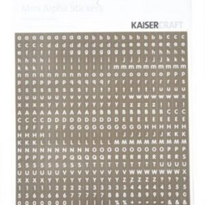 Kaisercraft - Mini Alpha Stickers - Chocolate & White
