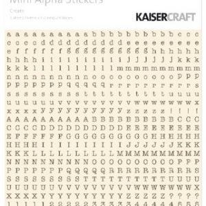 Kaisercraft - Mini Alpha Stickers - Cream