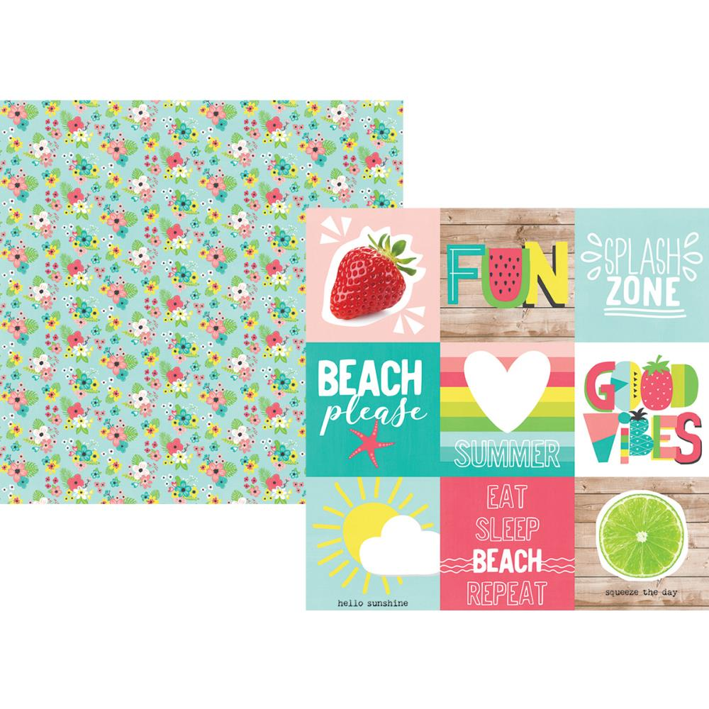 Simple Stories - Hello Summer - Paper - 4x4 Elements