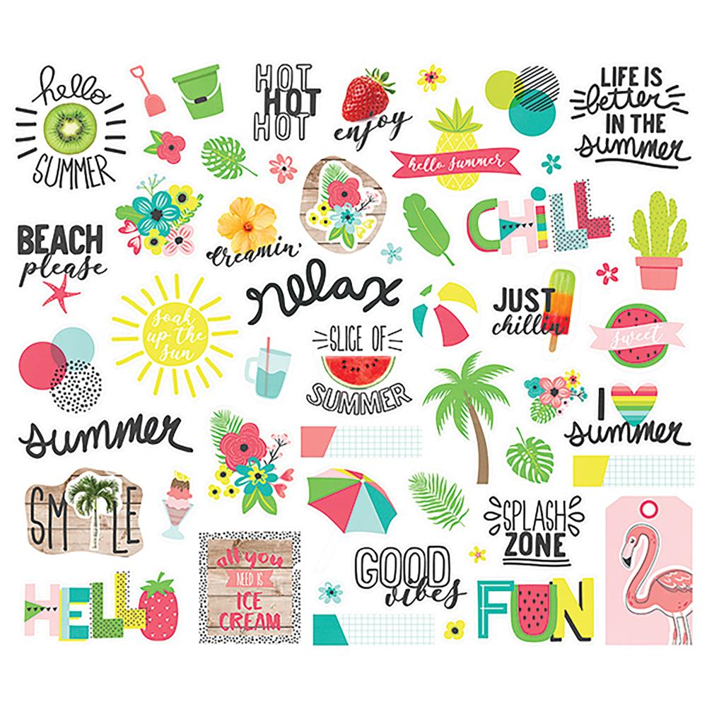 Simple Stories - Hello Summer - Die Cut Ephemera