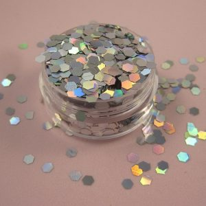 Hexgon flake Sequin - Holographic Silver
