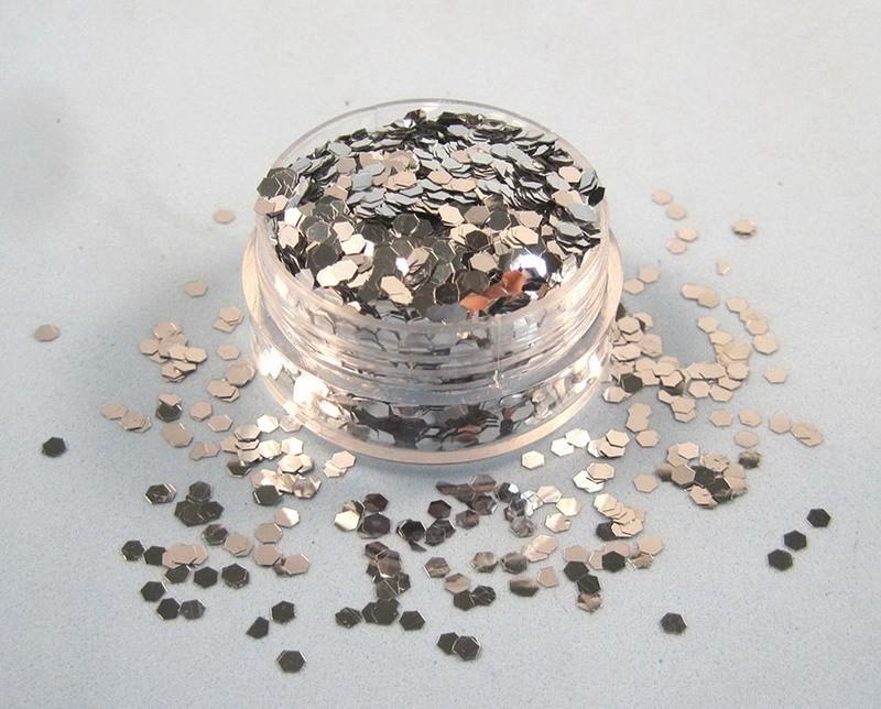 Hexgon flake Sequin - Silver