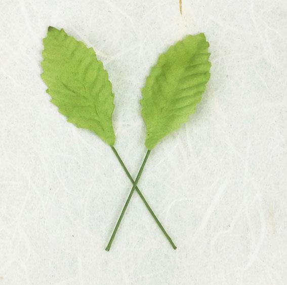 Green Tara Leaves - Light Green 2.5cm