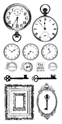 Kaisercraft - Acetate Stickers - Antiques