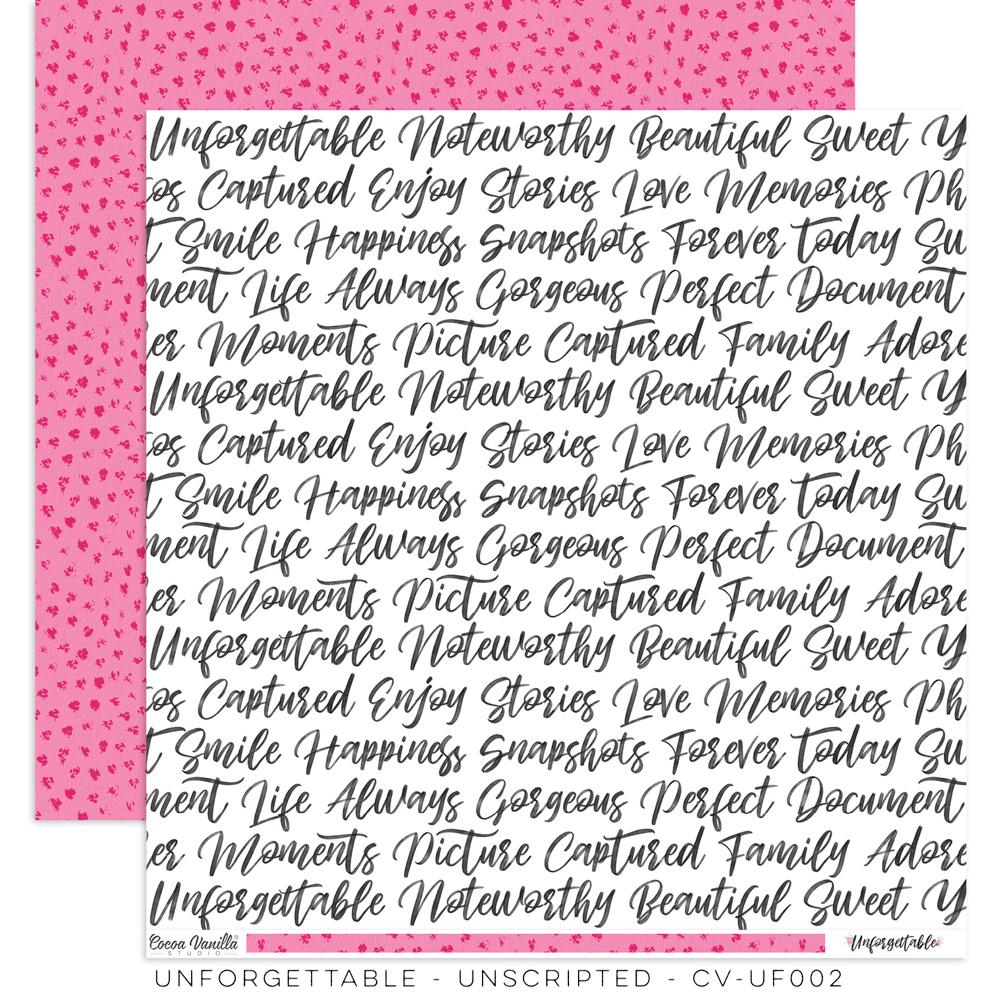 Cocoa Vanilla Unforgettable - Paper - Unscripted