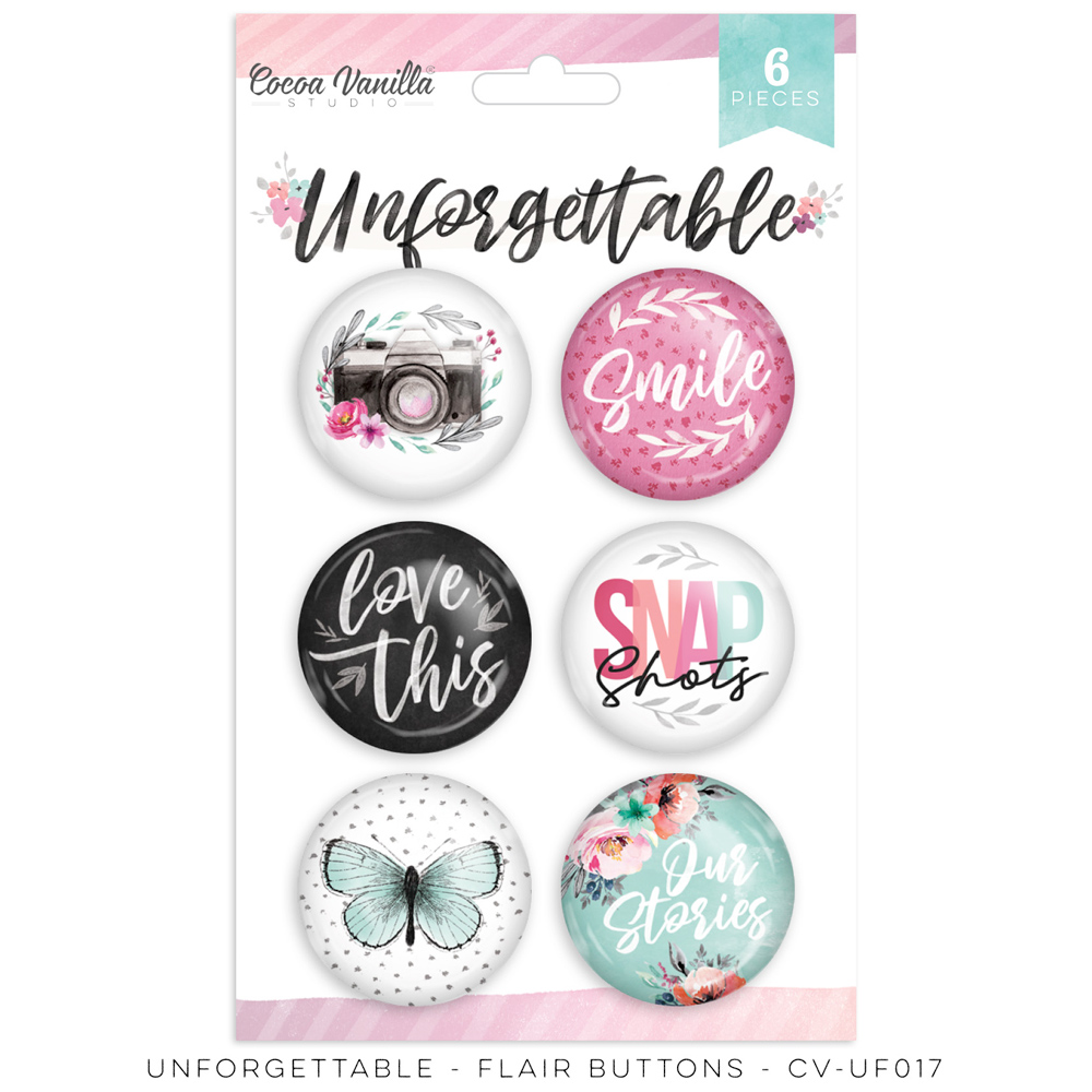 Cocoa Vanilla Unforgettable - Flair Buttons