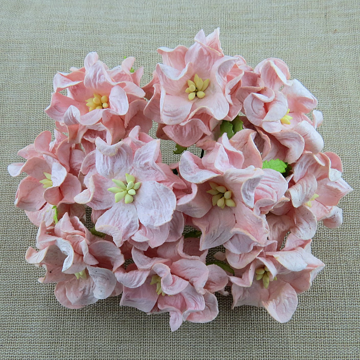 Mulberry Flowers - Gardenia - Med 3.5cm - Pale Pink