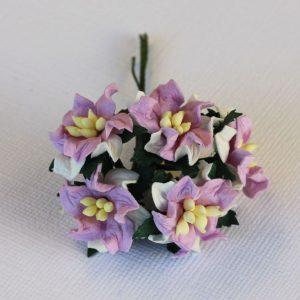 Mulberry Flowers - Gardenia - Small - Lilac & White