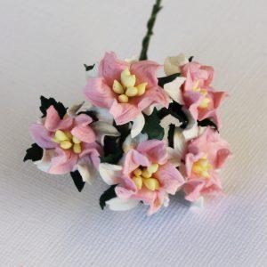 Mulberry Flowers - Gardenia - Small - Baby Pink & White