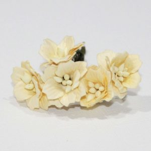 Mulberry Flowers - Apple Blossom - Soft Yellow