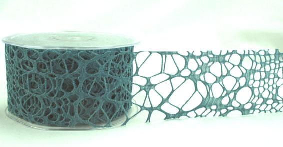 Green Tara - Cobweb Ribbon 50mm - Teal