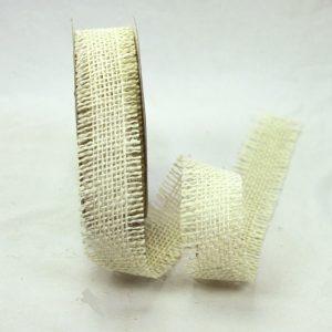 Burlap Ribbon 38mm - Ivory