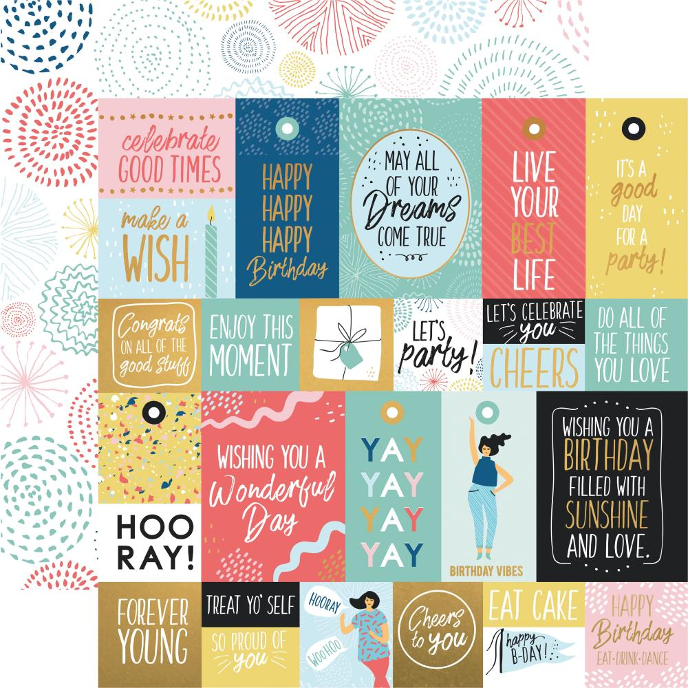 Kaisercraft - Oh Happy Day - Paper - Bright Bursts