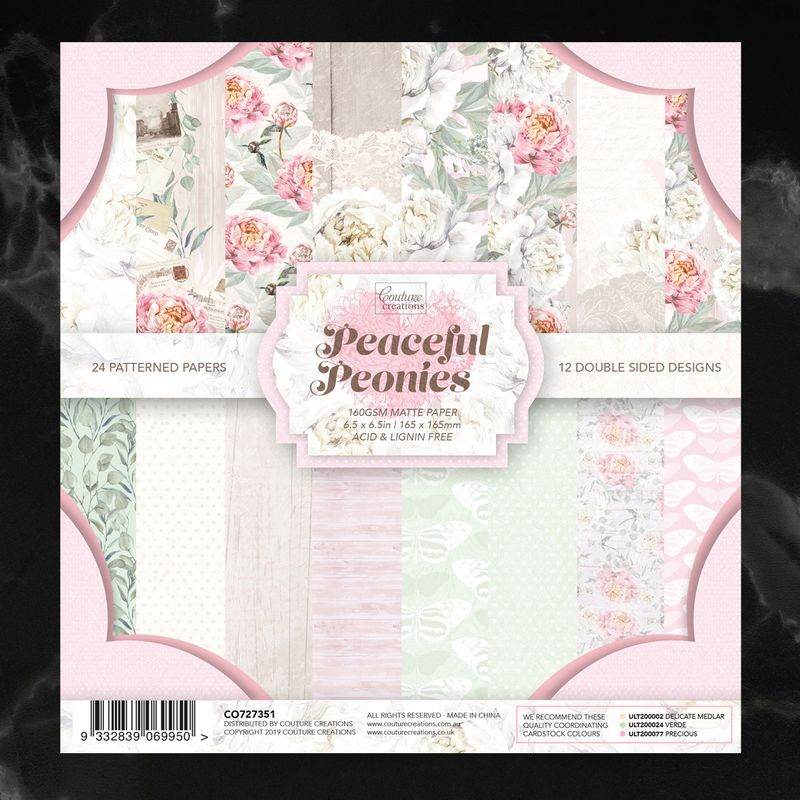 Couture Creations - Peaceful Ponies - Paper Pad