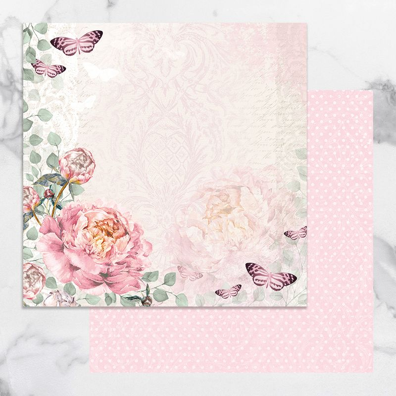 Couture Creations - Peaceful Peonies - Paper 01