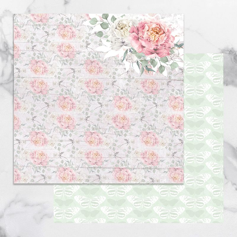 Couture Creations - Peaceful Peonies - Paper 03