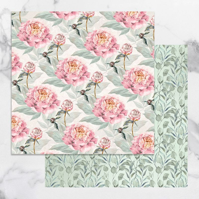 Couture Creations - Peaceful Peonies - Paper 06