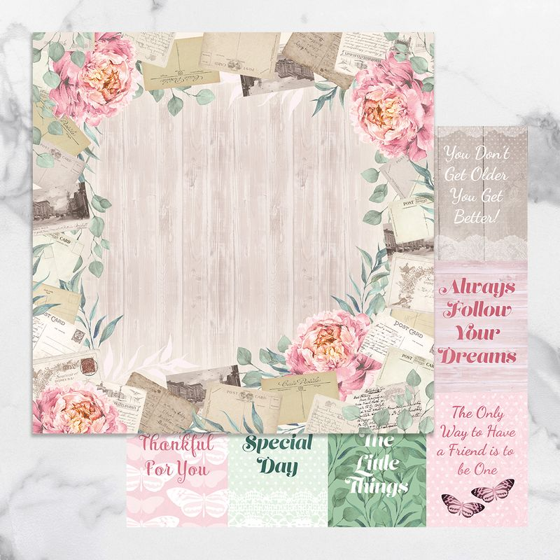 Couture Creations - Peaceful Peonies - Paper 08
