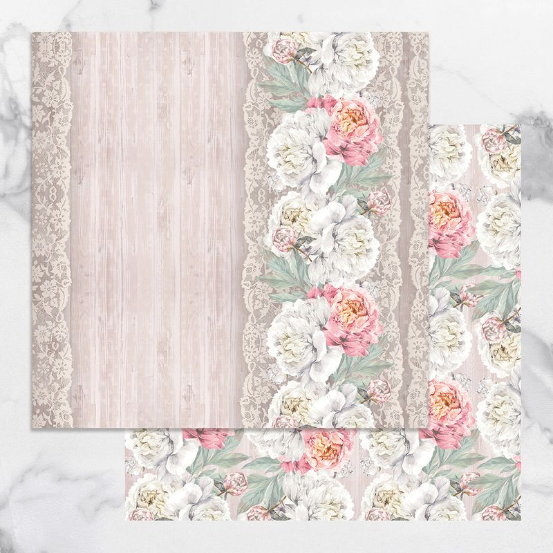 Couture Creations - Peaceful Peonies - Paper 09