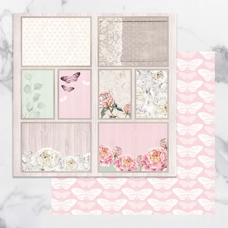 Couture Creations - Peaceful Peonies - Paper 12