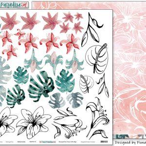 Pink Paislee - Indigo & Ivy - Paper #7