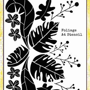 Colour Blast - Find Paradise - A4 Stencil - Foliage
