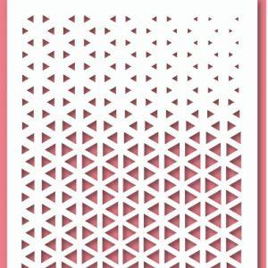 Uniquely Creative Stencil - Triangle Fade