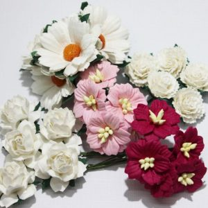 Mixed Mulberry Flowers - Pink & White