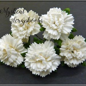 Mulberry Flowers - Carnations - White