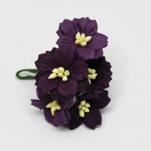 Mulberry Flowers - Apple Blossom - Deep Purple