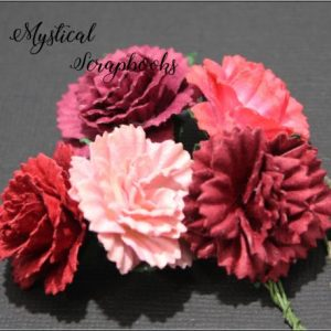 Mulberry Flowers - Carnations - Mixed Reds