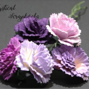 Mulberry Flowers - Carnations - Mixed Purple