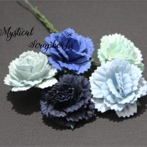 Mulberry Flowers - Carnations - Mixed Blues