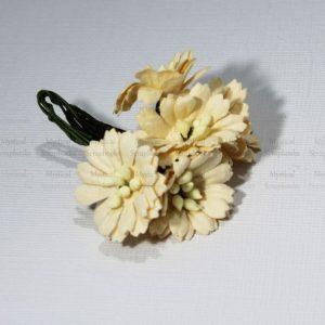 Mulberry Flowers - Cosmon Daisy - Cream