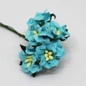 Mulberry Flowers - Gardenia - Small - Aqua