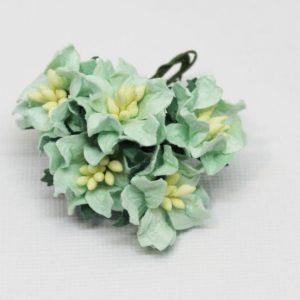 Mulberry Flowers - Gardenia - Small - Mint