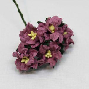 Mulberry Flowers - Gardenia - Small - Dusky Mauve
