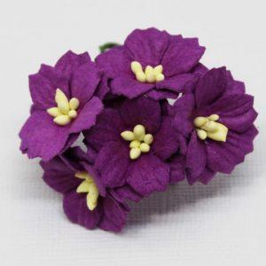 Mulberry Flowers - Apple Blossom - Purple