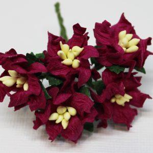 Mulberry Flowers - Gardenia - Small - Claret