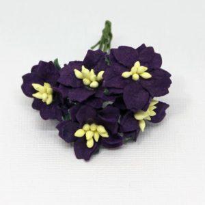 Mulberry Flowers - Gardenia - Small - Deep Purple