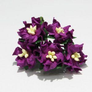 Mulberry Flowers - Gardenia - Small - Purple